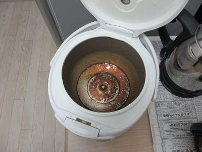 錆びた炊飯器