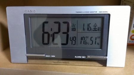 暖かい&朝が遅い
