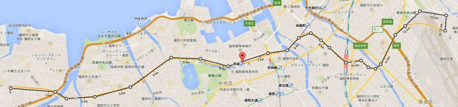 空港線の距離