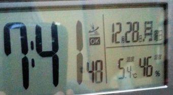 朝方の温度